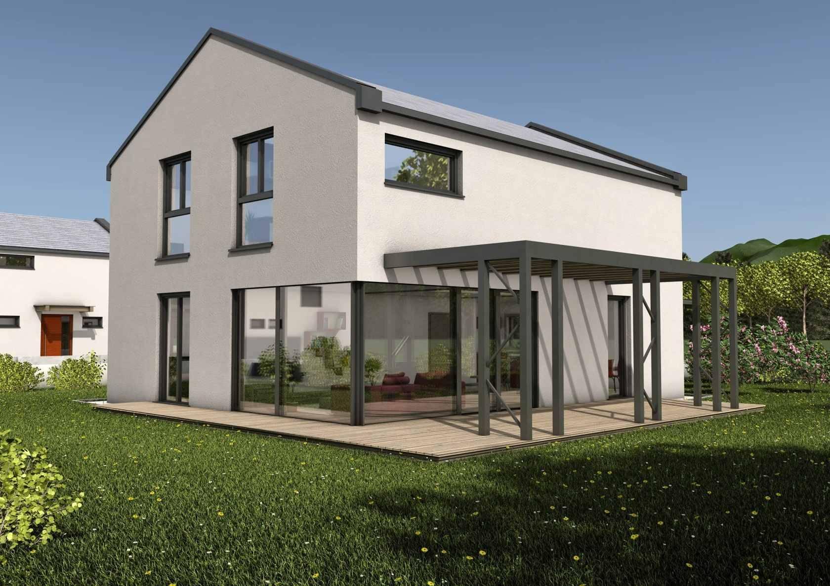 modernes haus bauen lassen fertighaus glas
