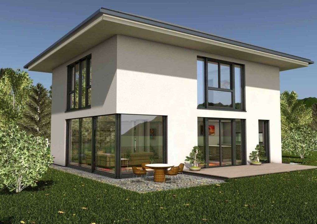 modernes haus bauen lassen fertighaus glas holzskeletthaus online. Black Bedroom Furniture Sets. Home Design Ideas