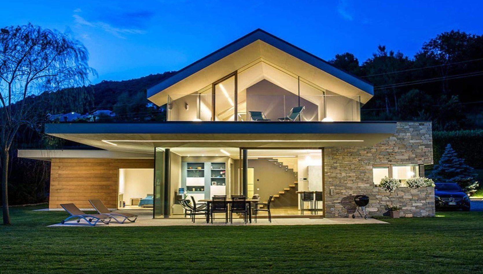 Designhaus, Exklusivhaus, Individuelles Fachwerk-Fertighaus, Modernes Holzhaus,