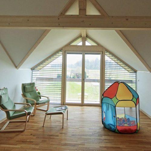 Modernes Fachwerkhaus, Holzglashaus KAGER Glasskeletthaus