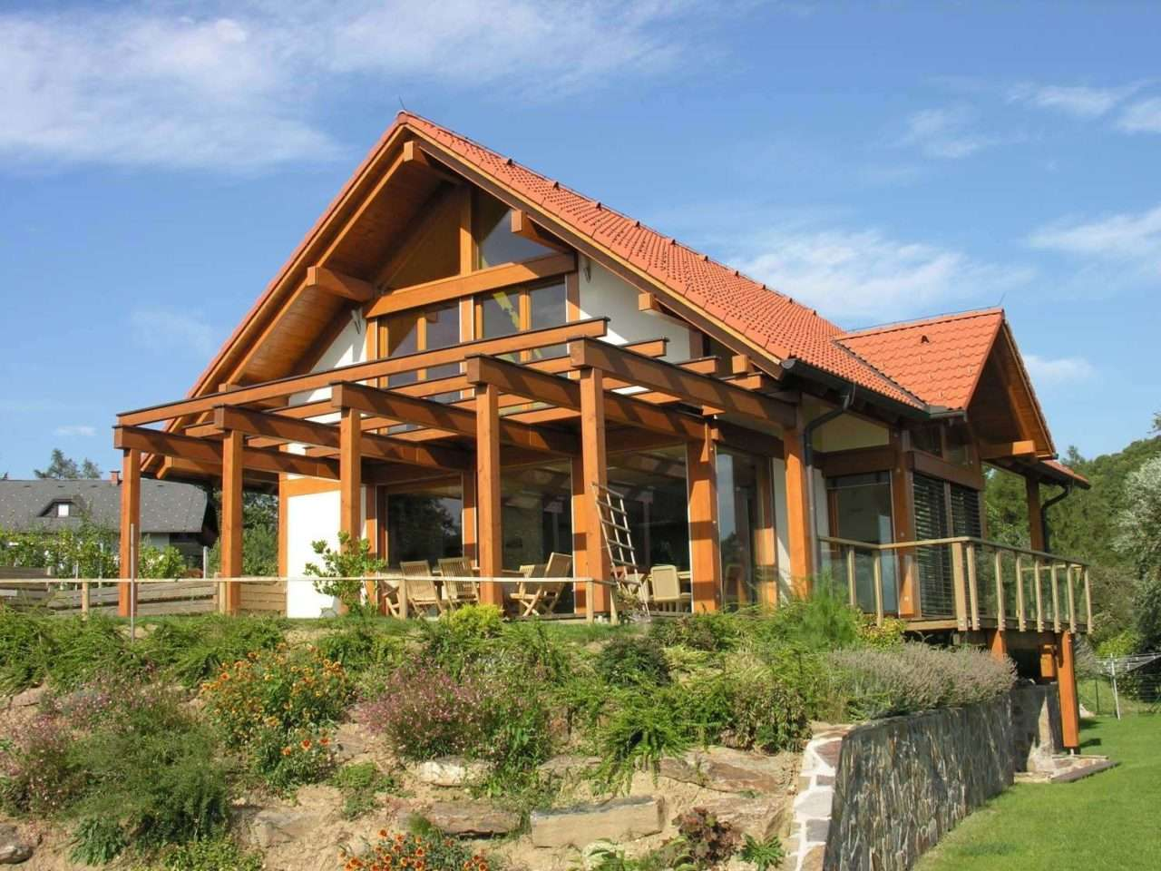 Modernes Fachwerkhaus tradition frischer jugendlicher stil