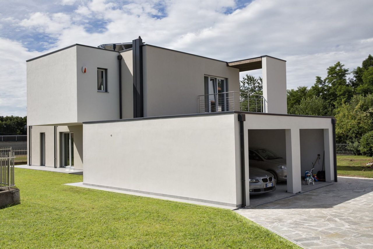Modernes Haus bauen lassen – Fertighaus Glas Holzskeletthaus online