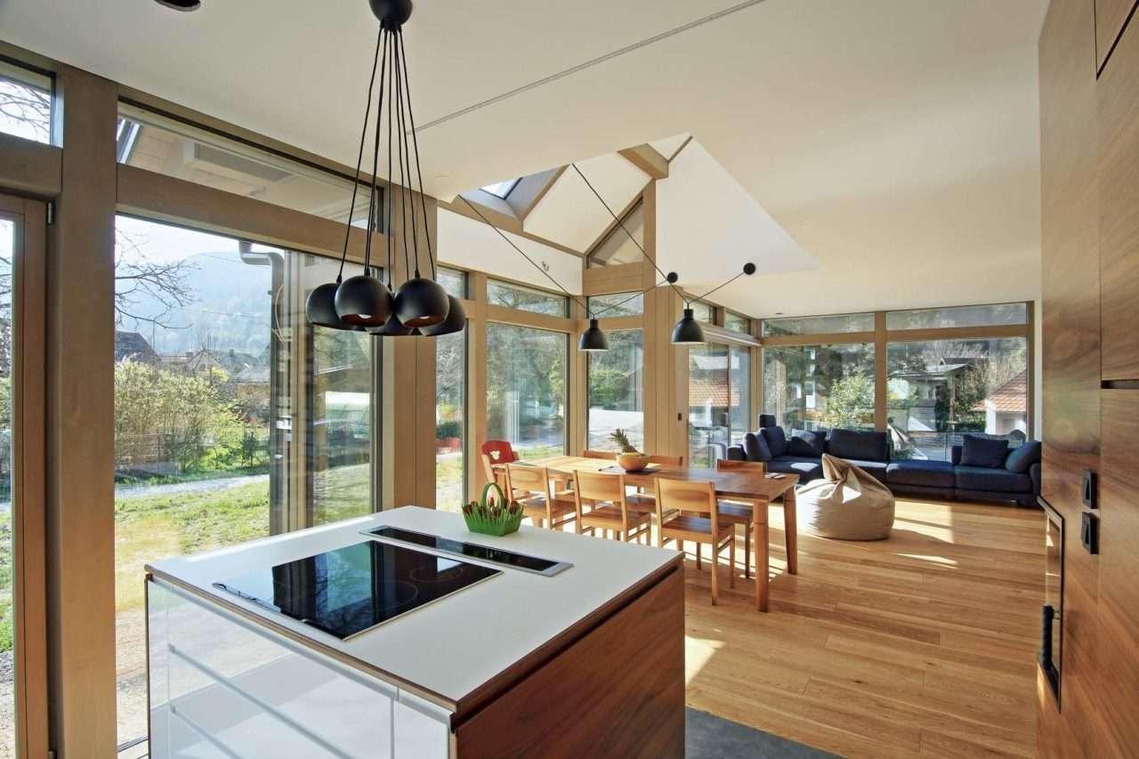 Modernes Fachwerkhaus Holzglashaus Kager Glasskeletthaus Individuelles Fachwerk Fertighaus